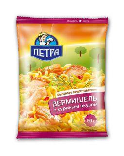 Вермишель ПЕТРА 50гр*100шт курица