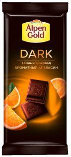 Шоколад Альпен Голд темный DARK апельсин 85гр 21шт*5бл.