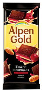 Шоколад Альпен Голд темный миндально-вишневый 90гр*5бл*20шт