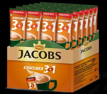 Кофе Якобс 3 в 1 Классик 12гр*24шт*10бл