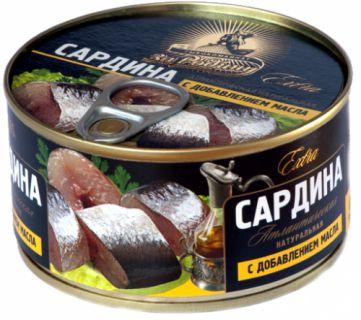 Сардина атл.натур. с маслом