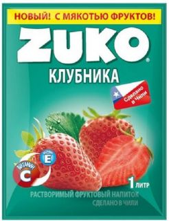 Сухой сок ZUKO клубника 25гр* 8бл*12шт