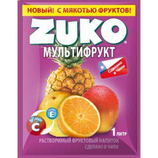 Сухой сок ZUKO мультифрукт 25гр* 8бл*12шт