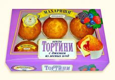 Мини-Кекс ТОРТИНИ ягода 200гр*16шт