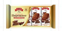 Пирожное бисквитное  Шоколадное 30гр*10шт*10 лотков