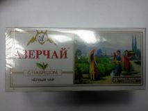 Чай Азерчай черный с чабрецом  25пак*24шт