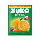 Сухой сок ZUKO апельсин 25гр* 8бл*12шт