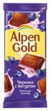 Шоколад Альпен Голд черника+йогурт 90гр*5бл*20шт