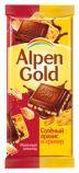 Шоколад Альпен Голд солёный арахис/крекер 90гр*5бл*20шт